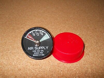 NEW Vintage Scott Oxygen Mask Air Supply Meter Gauge 800017-00 80001700 Air Pak