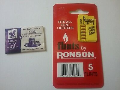 Ronson Wick & Flints New Lighter Replacement Parts Zippo,Evans.Dunhill