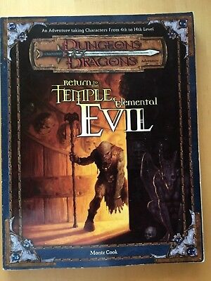 Return to the Temple of Elemental Evil - Dungeons & Dragons Module D&D / D 20