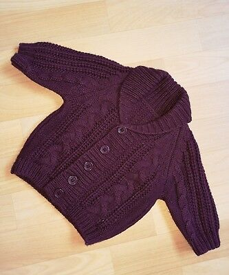 Early Days Baby Cardigan Strickjacke Bordeaux/aubergine 0-3 Monate 62