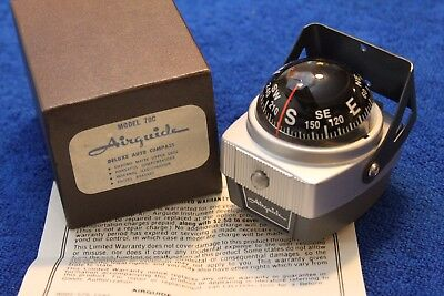 Vintage NOS Airguide  Model 79C Deluxe Auto Compass Accessory in Box With Paper