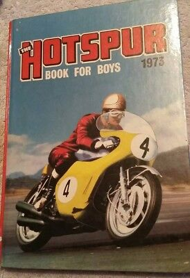 Vintage 1973 The Hotspur Book For Boys Annual. Collectable Hard Back Book.