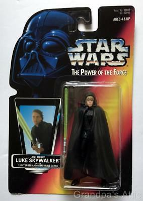 Star Wars POTF Red Card ~ LUKE SKYWALKER Jedi Knight ~ 1996 Figure ~ Unopened