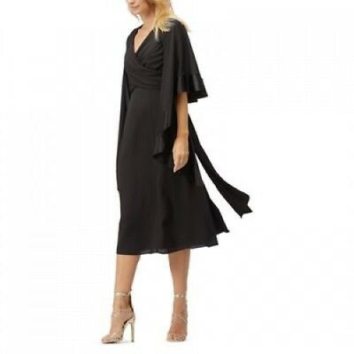 BNWT Jacques Vert Midi Dress With Chiffon Shawl Size 20