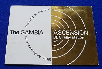1966 Gambia + Ascension Harrison Presentation Pack Folder - Bbc Relay Station