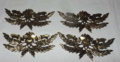 "(Set of 4) 6 3/4"" Wide Brass Furniture Decor Medallions"