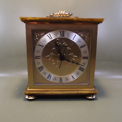 Rare Vintage 1960s STAIGER Quartz C Battery Mantle Clock. Made in West Germany