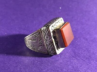 Circa 16Th Century - Post Medieval Solid Silver Ring - Very Wearable.
