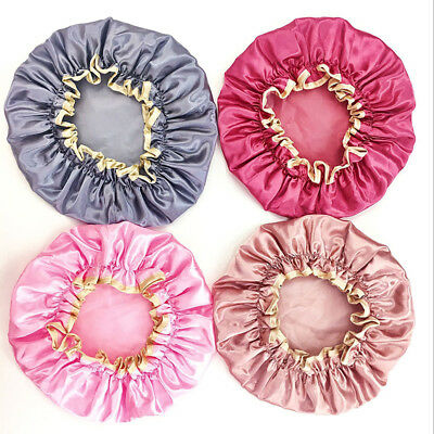 Shower Caps Head Hat Hair Cover Elastic Household Reusable Disposable Clear New