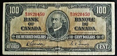1937 Bank of Canada $100 Gordon-Towers B/J