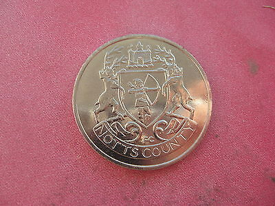 Notts County F.a. Cup Centenary 1872-1972  Silver Coloured Medal Token Coin