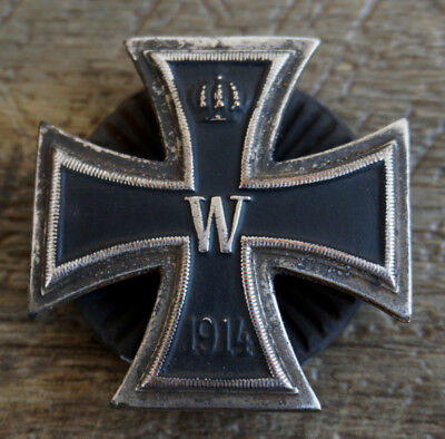 Imperial German Iron Cross 1st Class 1914 with Deumer Clamshell Disc