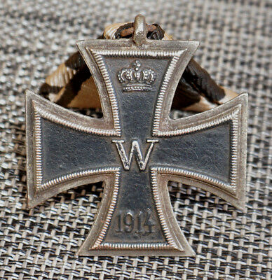Imperial German Iron Cross 2st Class (1914) on triangular ribbon