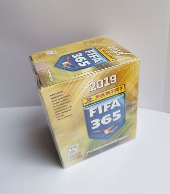 Panini FIFA 365 THE GOLDEN WORLD OF FOOTBALL 2019 Box 50 Packets Of Stickers