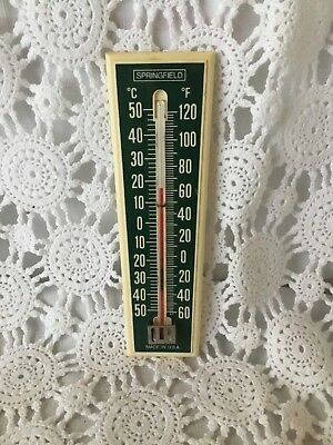 Springfield Wall Thermometer Outdoors Vintage Made USA
