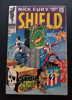 Nick Fury Agent Of Shield #1 Signed By Jim Steranko.