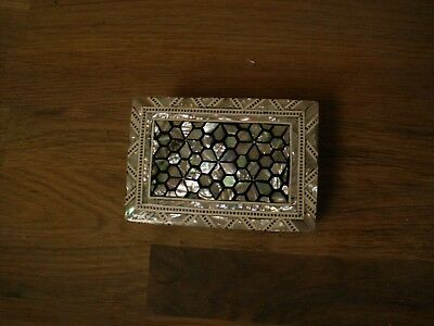 Middle Eastern Marquetry Inlaid Box
