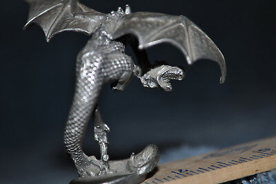 Pewter Dragon, Small Figurine, statue, fantasy collectible, dungeon and dragons