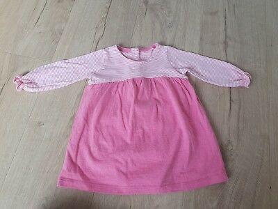 NEXT Baby Girls Pink &white Striped Dress With Integrated Bodysuit Size 3-6...