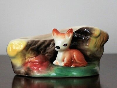 Eastgate Pottery Poise Vase No. 972 Faun at side of fallen log in good condition