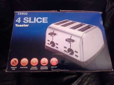 Tesco Four Slice Toaster Brand New In Box