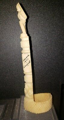 Antique Hand Carved Antler Of El Pipila Mexico 1810