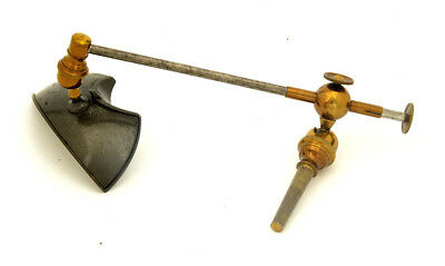 c.19th brass stage microscope reflector