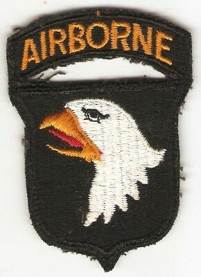 WWII era 101st Airborne Division Patch Attached Tab Black Twill