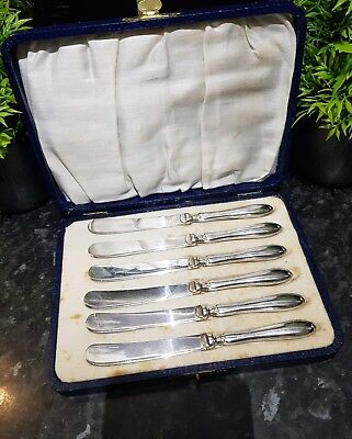 Vintage Silver Handle spreading Knifes , FULLY HALLMARKED FOR 975 SILVER
