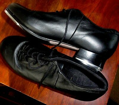 Bloch Women's Black Leather Lace Up Tap Shoes Size 10 M, Very Good Condition