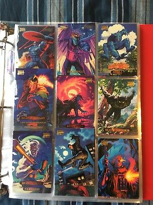 1994 Marvel Masterpieces - Complete 140 Card Base Set - Comic Book Cards