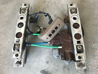 2006 GM 6 Way Power Seat Track Set, Aluminum with Switch, Wiring