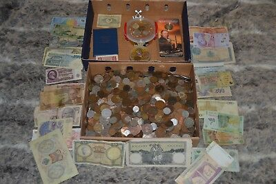 Job Lot Of Old Coins 10 kg Vintage Rare Loft Find with silver , picture , honey