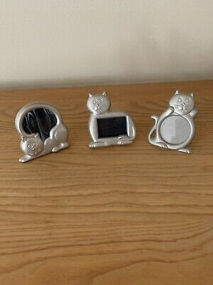 picture frames Set If 3 Cat Designs