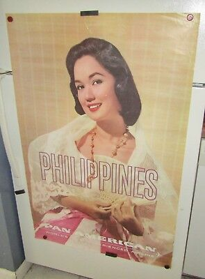 Philippine Pan American World's Most Experienced Airline Printed In U.s.a Poster
