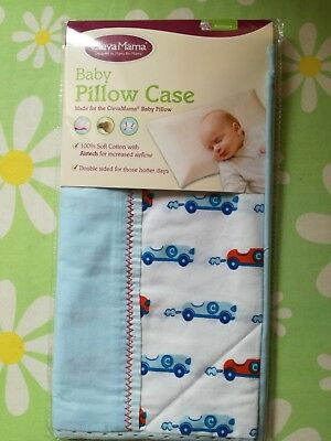 Clevamama Replacement Baby Pillow Case Cover (Blue) size 40x24cm