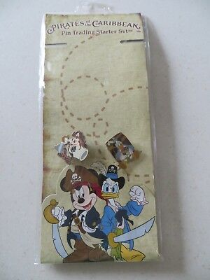 Mickey Mouse & Donald Duck Pirates of the Caribbean Walt Disney World Pins NEW