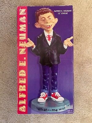 """Vintage Alfred E. Neuman MAD Magazine 12"""" Statue: """"What—me worry?"""""""