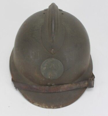 Vintage Wwi French Adrian Military Helmet Rf Infantry #5