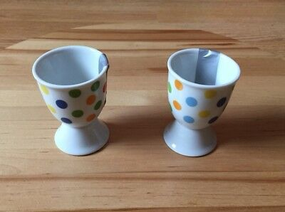 Kitchen Craft Colourful Spots Porcelain Egg Cup Set of 2 -  Perfect Gift