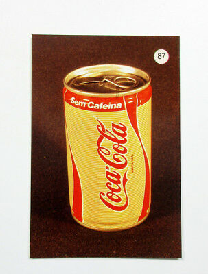 COCA-COLA Decaffeinated Soft Drink Can 1988 Taschenkalender Pocket Calendar