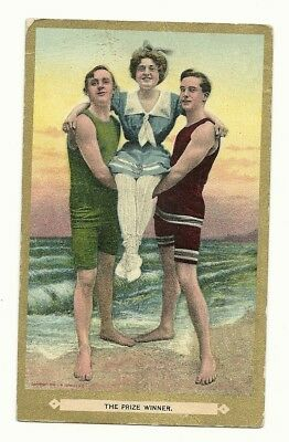 Early Postcard Sent From Colonial Beach Va - The Prize Winner - Cb Note / Pmark
