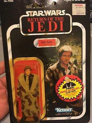 Vintage Han Solo Trench Coat 77 back Star Wars Return of the Jedi Anakin Offer