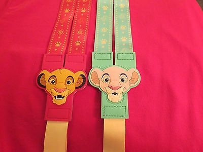 New Disney Parks Lion King Simba & Nala Reversible Lanyard