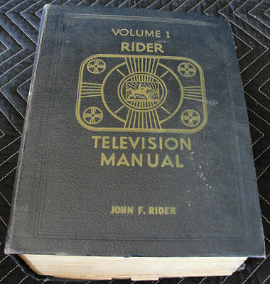 Extremely Rare 1948 Rider Television Technical Service Repair Schematics Book