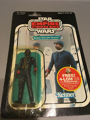 Vintage Bespin Security Guard 47 back Star Wars Empire Strikes Back 4-Lom 1982