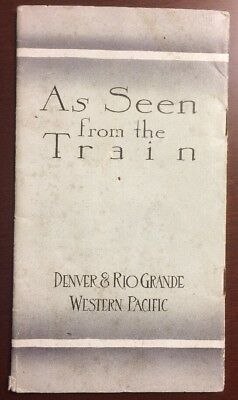 As Seen From The Train Denver & Rio Grande Western Pacific Brochure CO UT NV CA