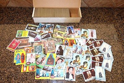 1977 to 1980 TOPPS STAR WARS CARDS*HUGE LOT!!!*670+ STICKERS DARTH VADER & MORE!