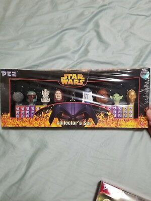 PEZ Star Wars Collector's Set (9 Star War Figure dispensers + 12 packs of Candy)