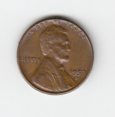 1959D Usa 'lincoln' One 1 Penny/cent - Very Nice Vintage Coin